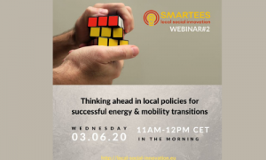 SMARTEES Webinar: Thinking ahead in local policies for successful energy & mobility transitions