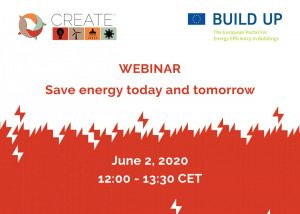 Webinar - CREATE project: Save energy today and tomorrow